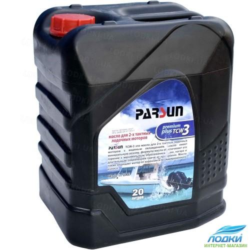 Масло для двухтактного лодочного мотора TCW3 Parsun Premium Plus 20 литров